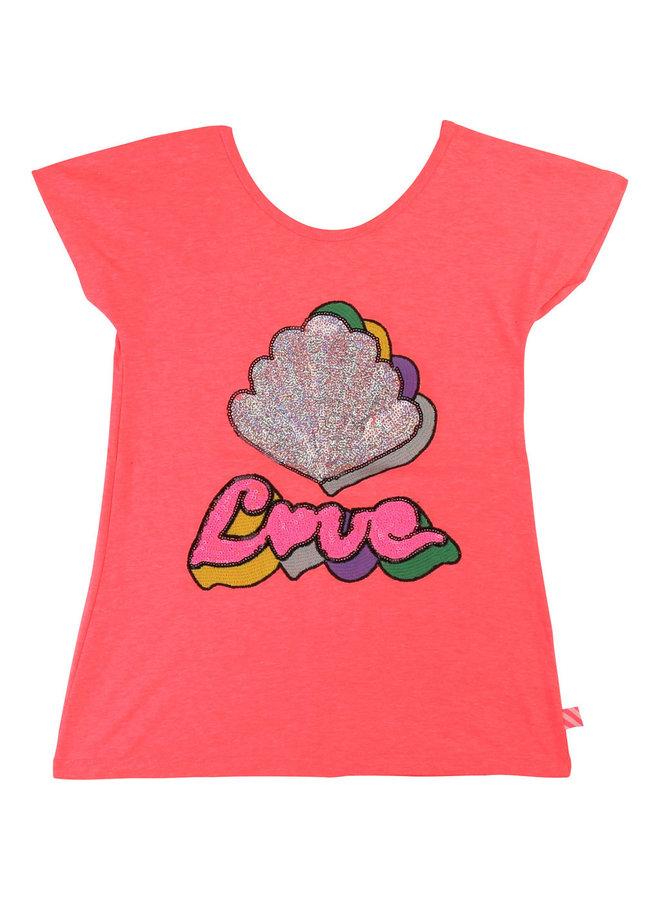 Billieblush T-Shirt Love pink