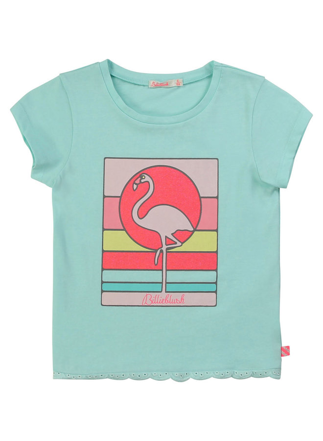 Billieblush T-Shirt Flamingo türkis