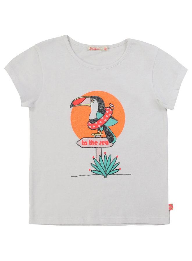 Billieblush T-Shirt Tukan weiß