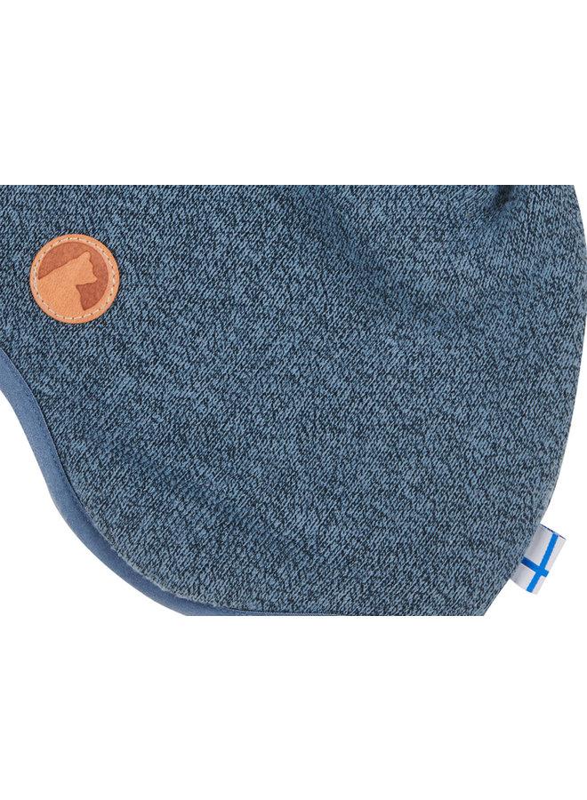 Finkid Strickfleece Mütze blau