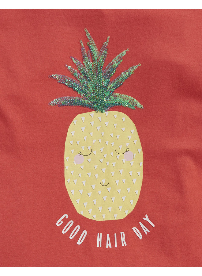 TOM JOULE T-Shirt Astra Ananas mit Pailletten
