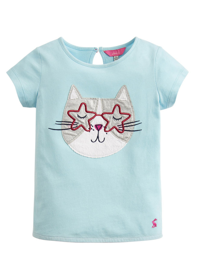 TOM JOULE T-Shirt Glitzer Katze