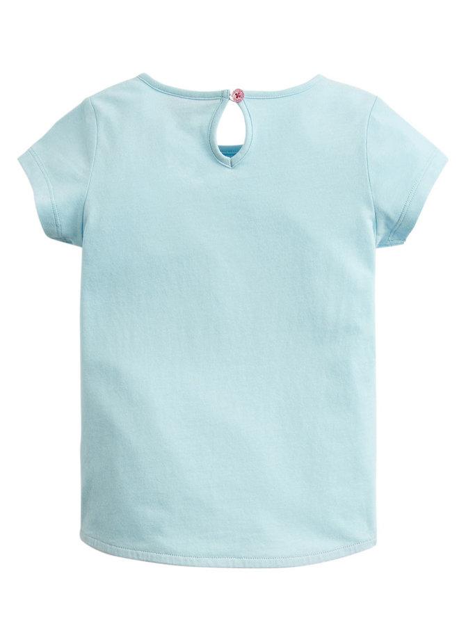 TOM JOULE T-Shirt Glitzer Katze aqua