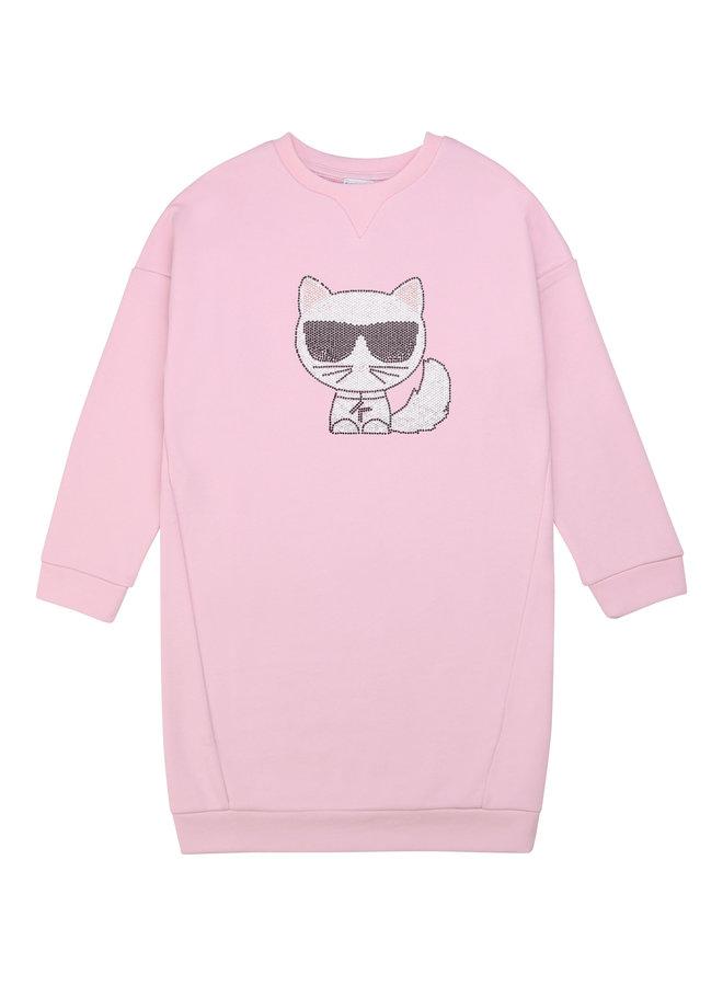KARL LAGERFELD KIDS Sweatshirt Kleid rosa