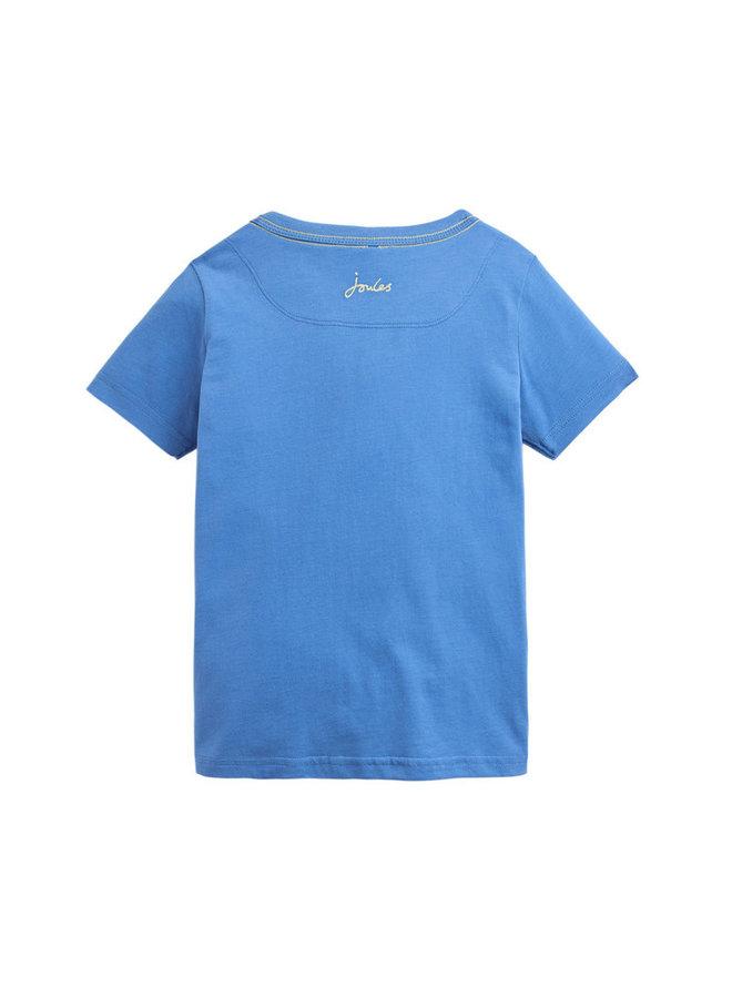 TOM JOULE T-Shirt Archie Chamäleon blau