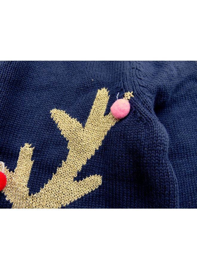 TOM JOULE Strickpullover Weihnachten blau