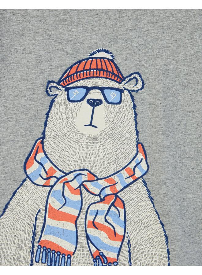 TOM JOULE Langarmshirt Eisbär grau