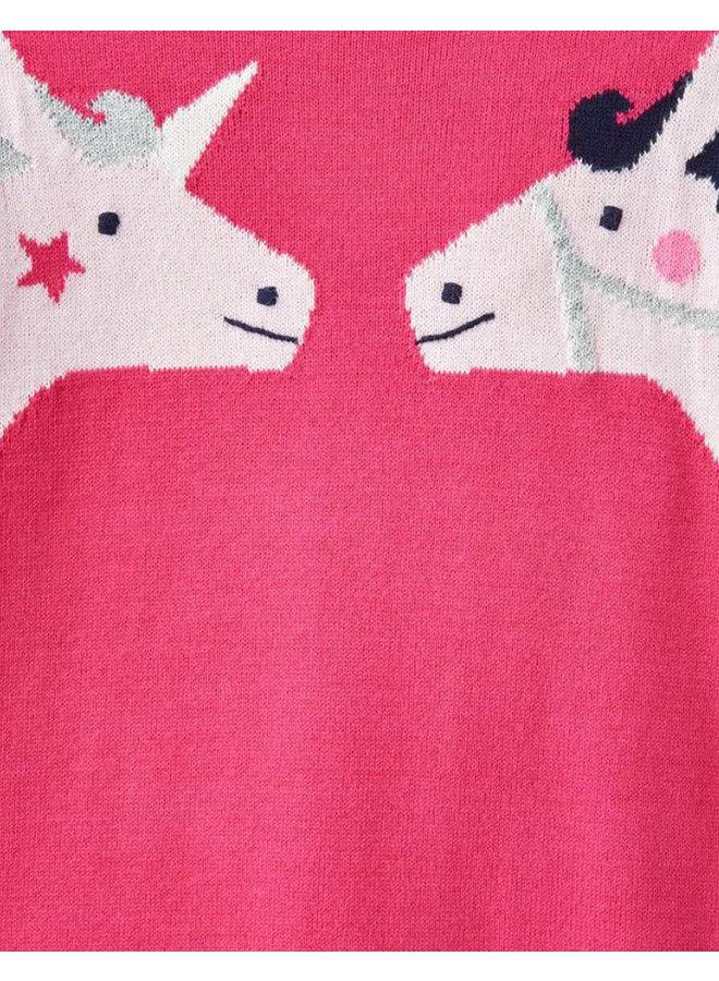 TOM JOULE Pullover Pferde pink