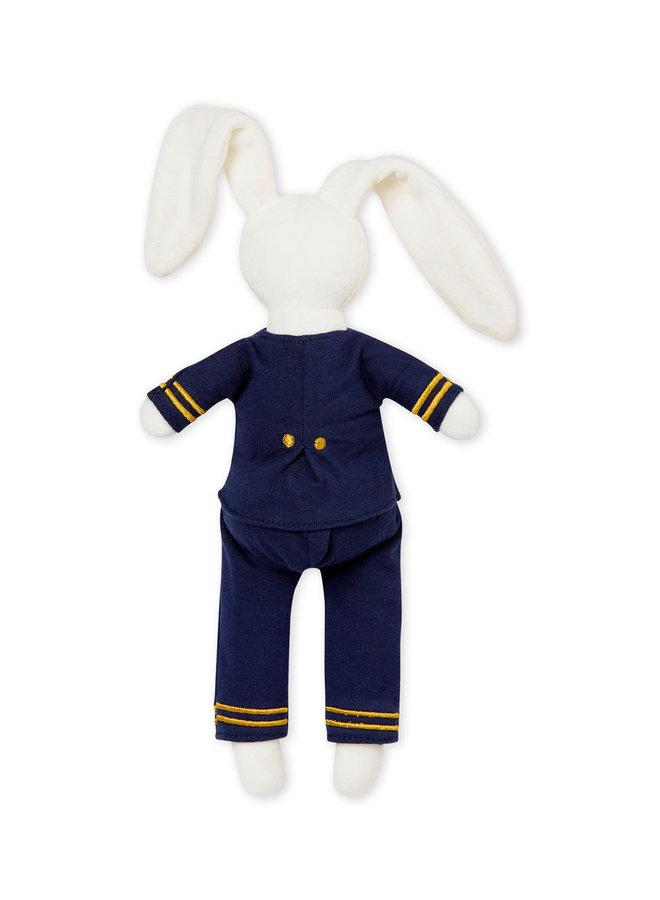 Petit Bateau Kuscheltier Hase maritim mit Kleidung