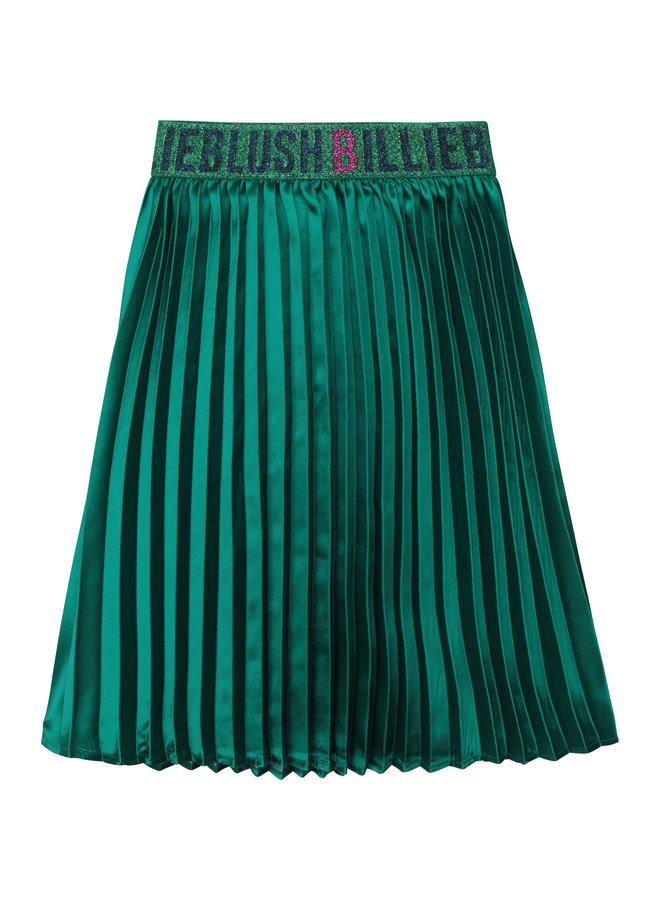 Billieblush Faltenrock grün aus Satin