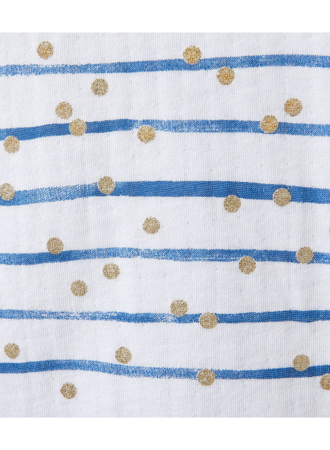 Petit Bateau Pyjama Streifen und dots Gold
