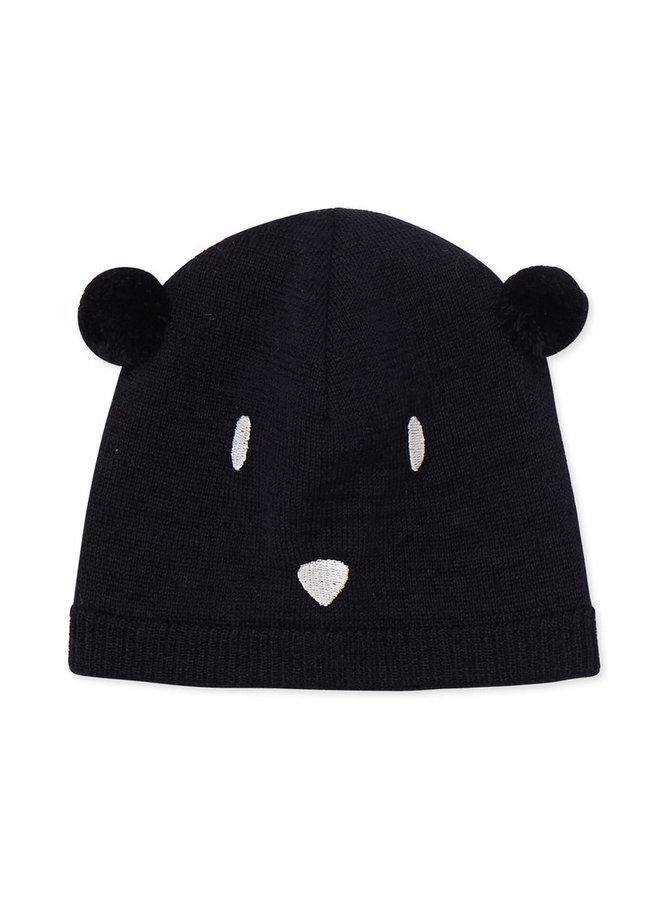 Petit Bateau Mütze dunkelblau Bär