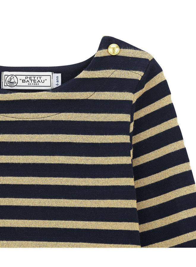 Petit Bateau Streifenshirt blau gold