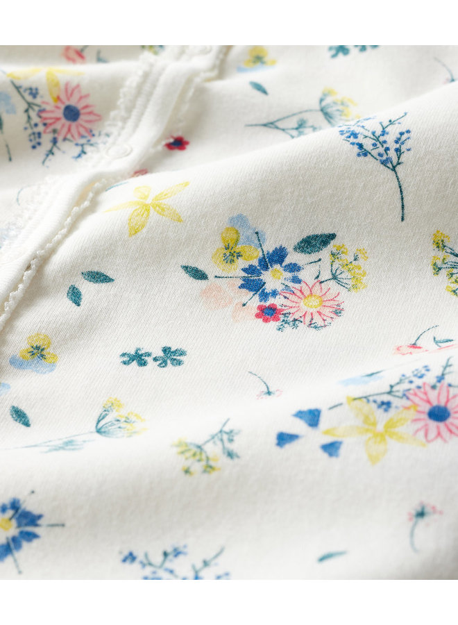 Petit Bateau Bodysuit Blumen Alloverprint