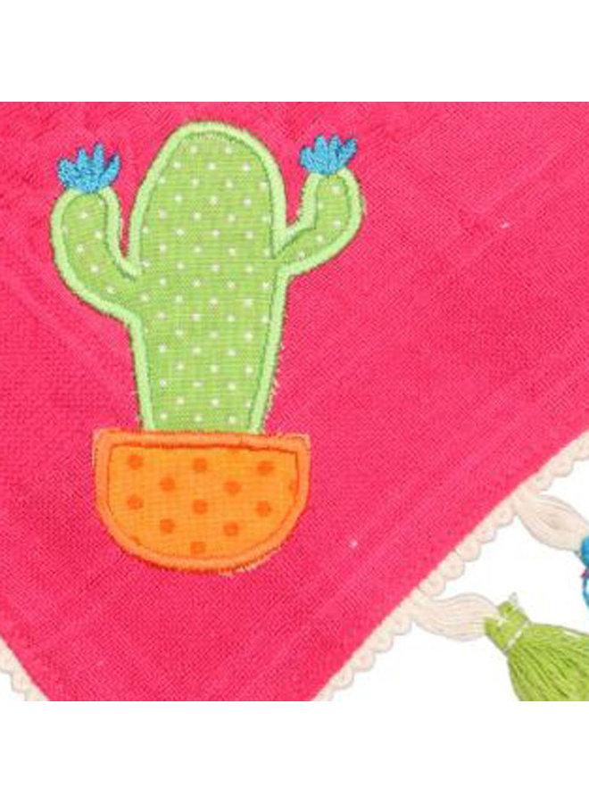 P.Eisenherz Palituch Kaktus pink mit Quasten