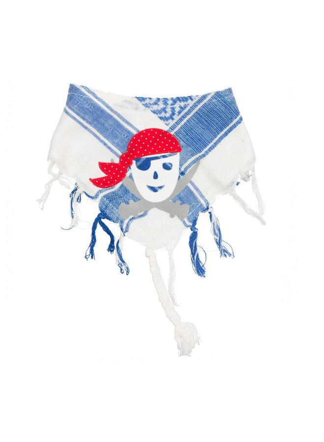 P.Eisenherz Palituch Pirat weiß blau