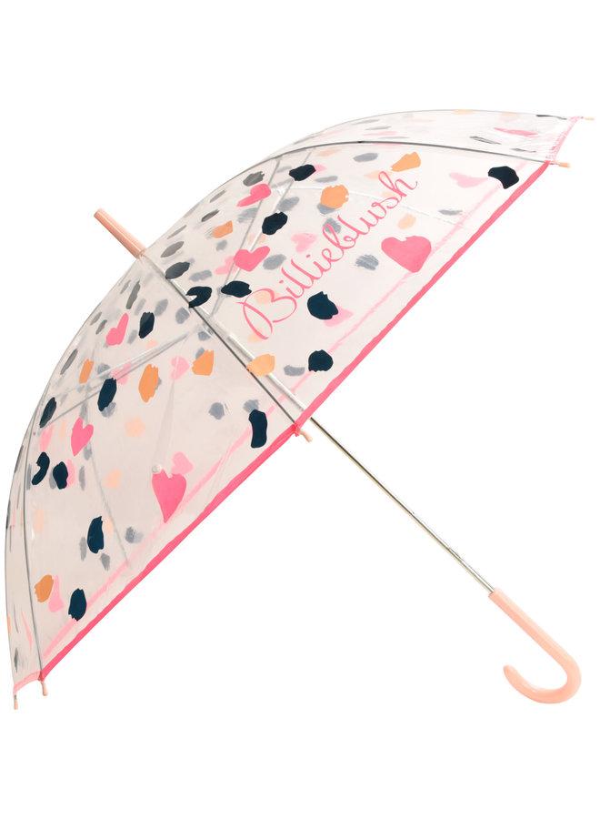 Billieblush Regenschirm transparent mit Leopardenmuster