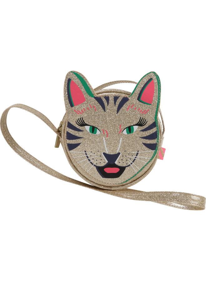 Billieblush Tasche Katze Raubkatze Glitzer gold