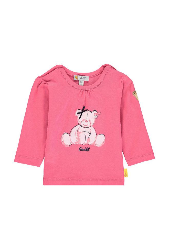 Steiff Baby Sweatshirt rosa Teddy