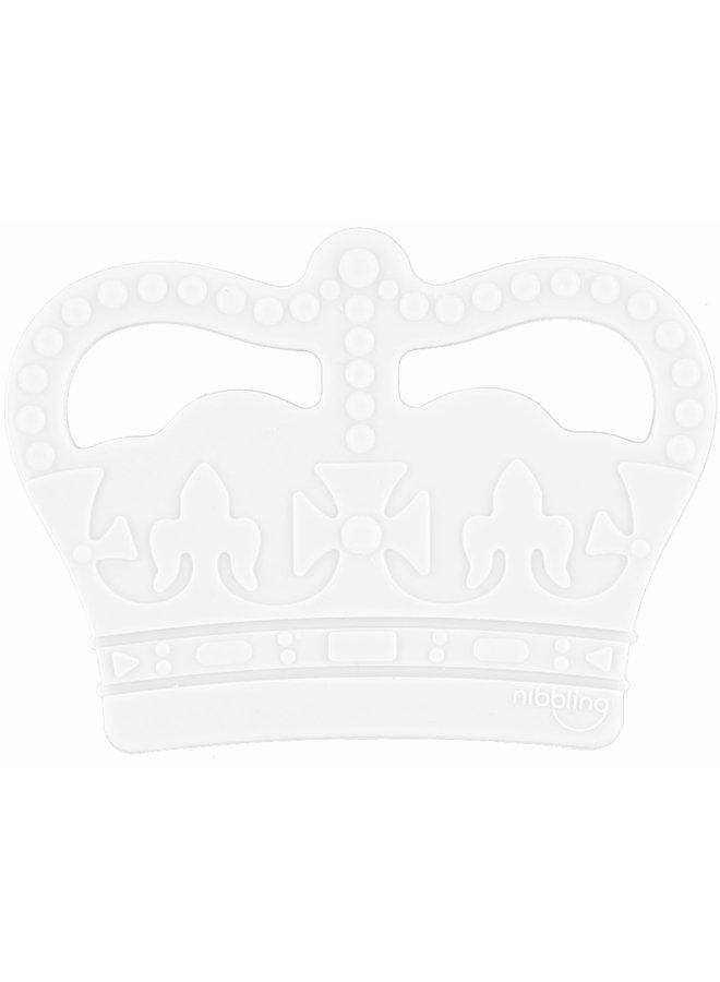 NIBBLING Beißring Krone hellblau