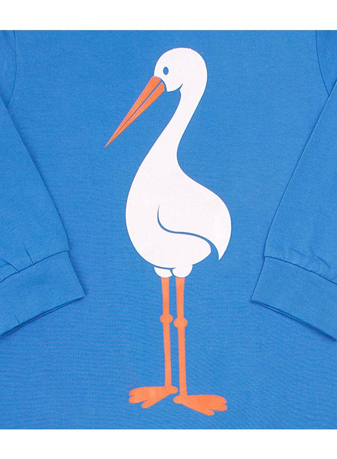 DANEFAE Bodysuit Storch blau Anzug