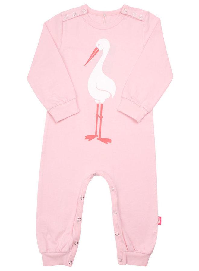 DANEFAE Bodysuit Storch rosa  Anzug