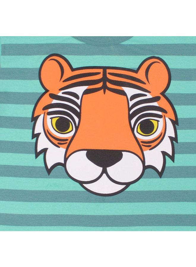 DYR by DANEFAE Langarmshirt Tiger grün