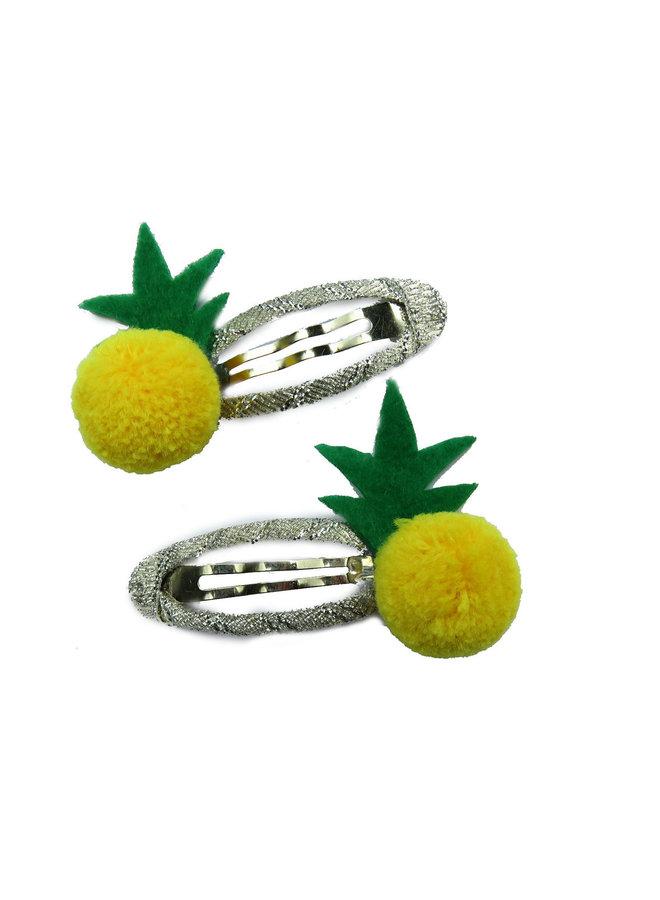 Haarspangenset Ananas und andere Früchte