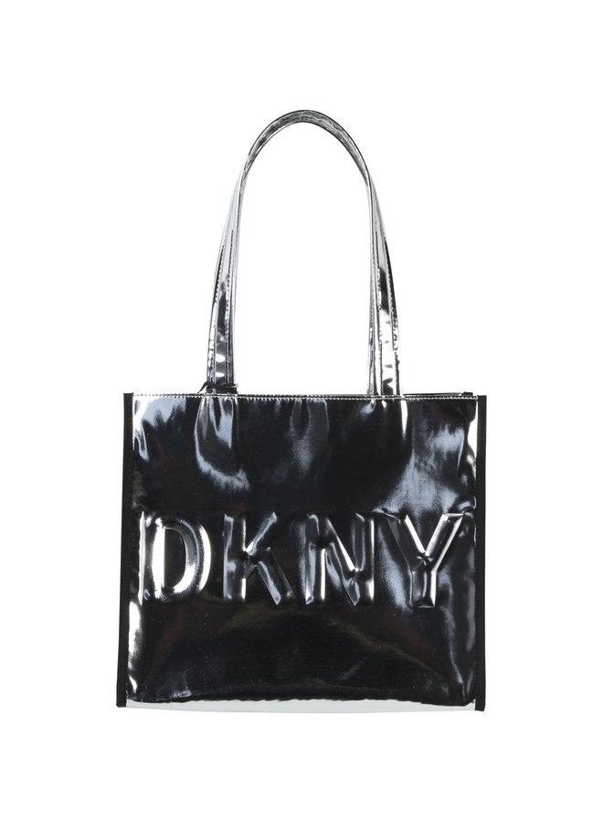 DKNY KIDS Shopper silber mit großer Logoprägung