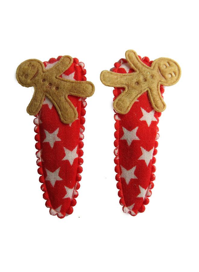 Haarspangen Gingerbreadman