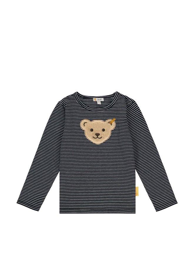 Steiff Baby Sweatshirt Quietscherblau mit Teddy-Applikation