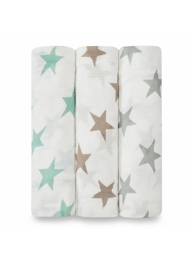 aden + anais 3-pack silky soft swaddles milky way