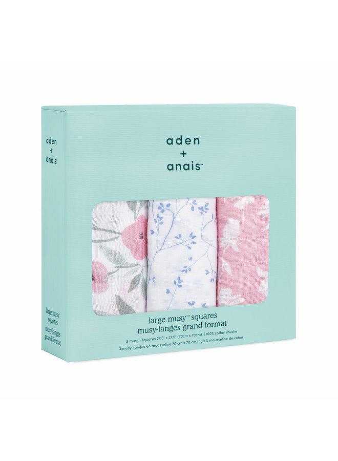aden + anais 3 pack classic musslin squares mon fleur