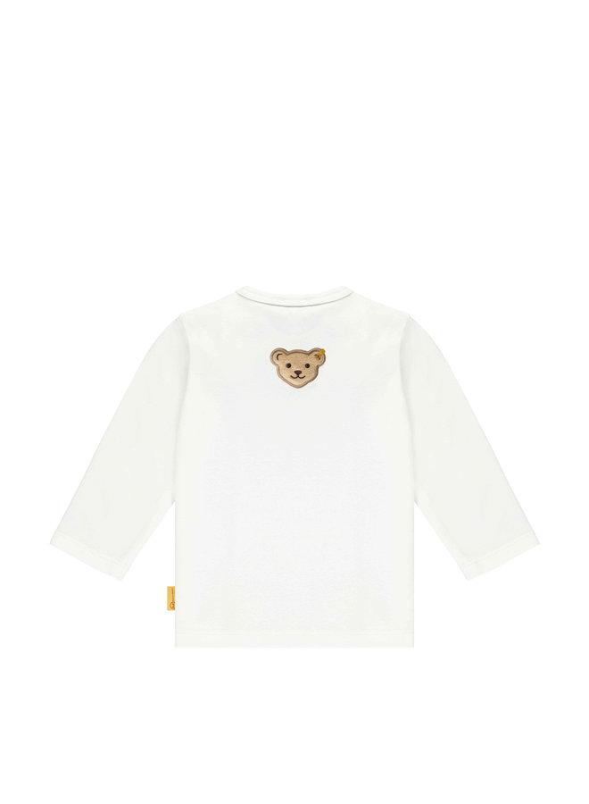 Steiff Baby Langarmshirt creme mit Teddy Motiv