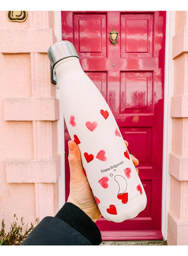Chilly's Trinkflasche Pink Hearts 500ml Herzen