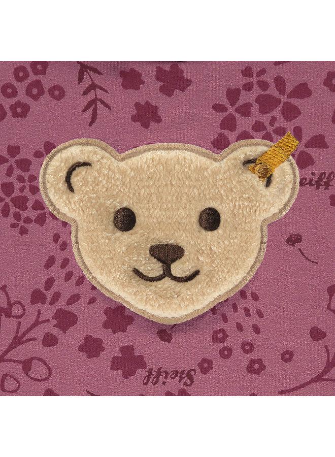 Steiff Baby Sweatshirt Quietscher beere mit Teddy-Applikation  - Copy