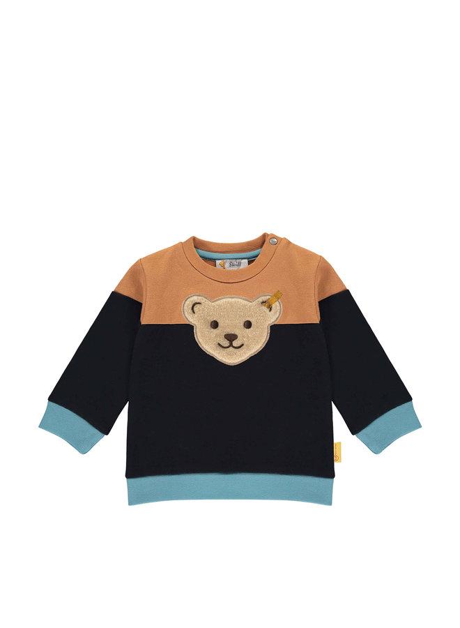 Steiff Baby Sweatshirt braun blau