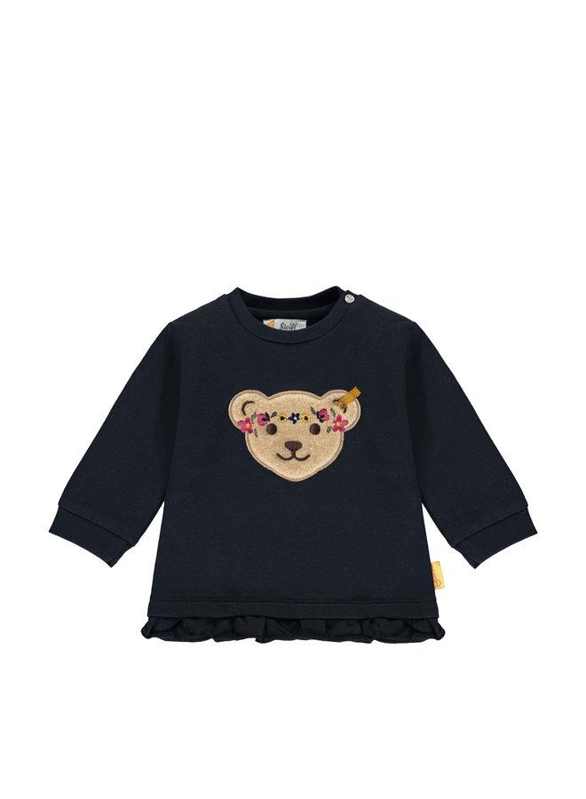 Steiff Baby Sweatshirt blau Flower Power