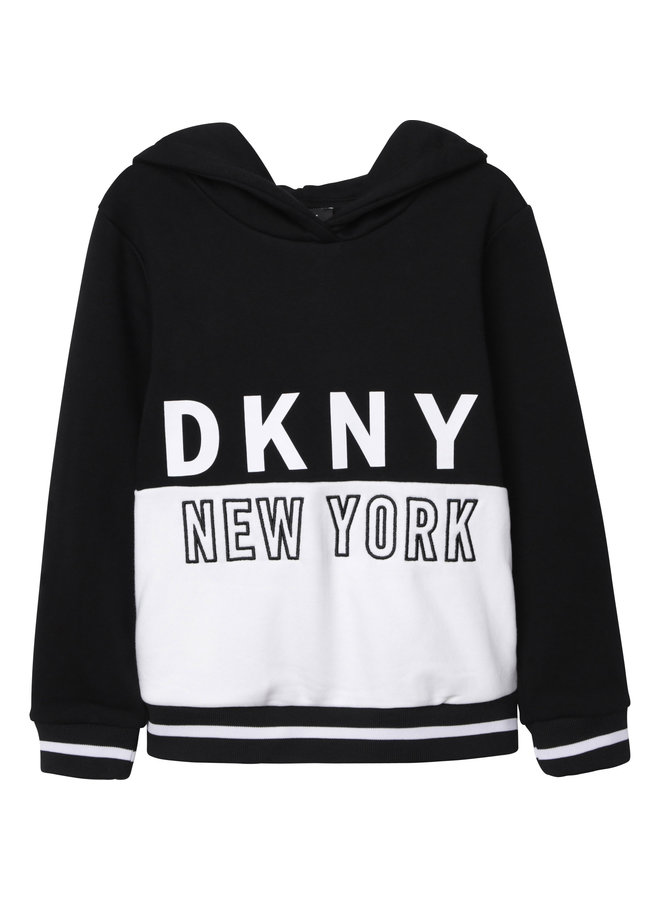 DKNY KIDS Hoodie schwarz French Terry Kapuzensweatshirt