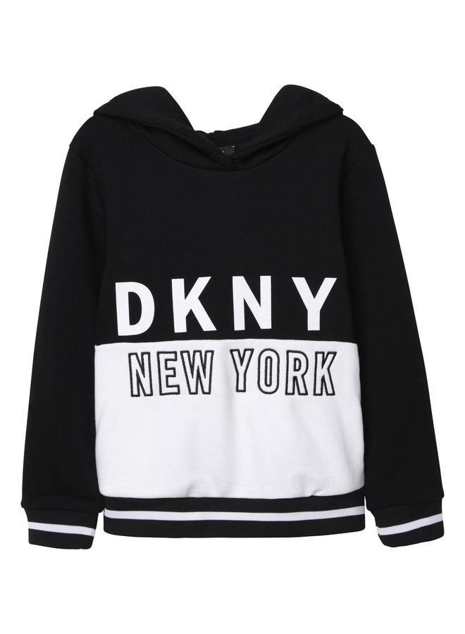 DKNY KIDS Hoodie schwarz french terry
