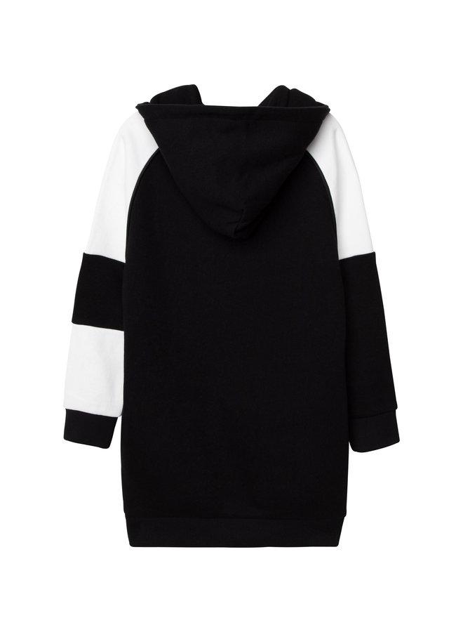 DKNY KIDS Hoodie Kleid schwarz French Terry Kapuzenkleid