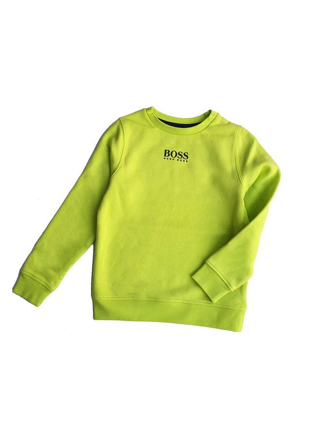 HUGO BOSS Kids Sweatshirt Green Lemon mit Logo