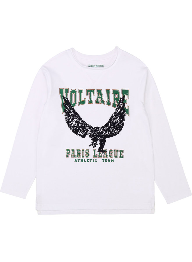 Zadig & Voltaire Longsleeve Adler weiß Paris League