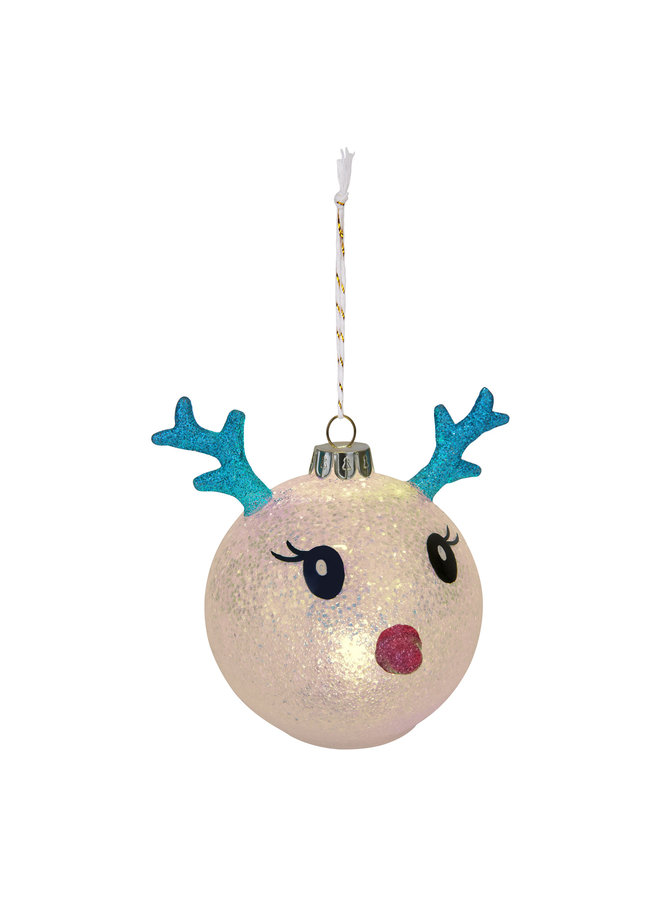 Sunnylife Festive Baume Weihnachtskugel Rentier LED