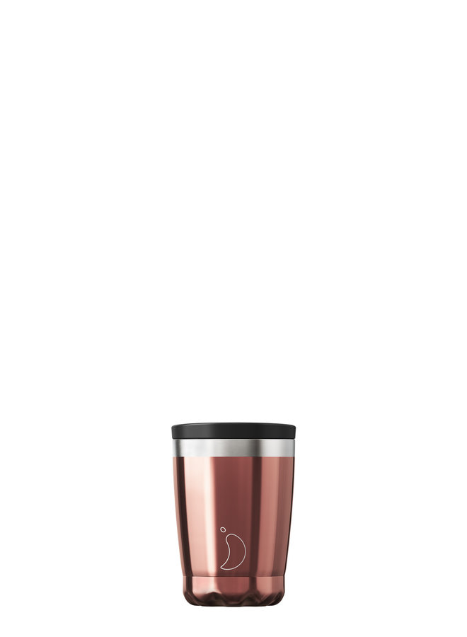 Chilly's Kaffeebecher wiederverwendbar 340ml  Chrome Edition Rose Gold