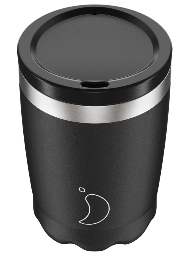 Chilly's Kaffeebecher wiederverwendbar 340ml Monochrome Edition Black