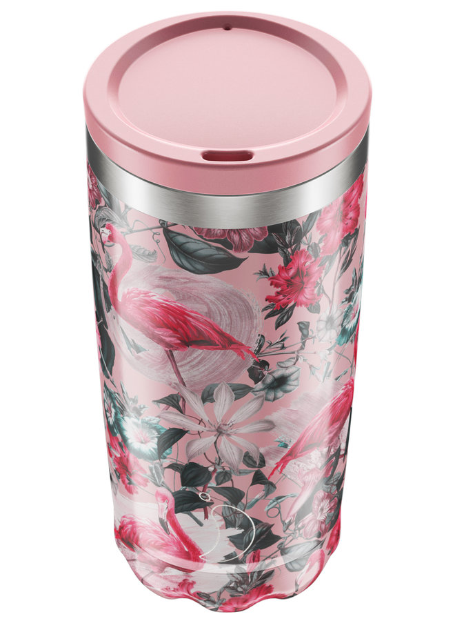 Chilly's Kaffeebecher wiederverwendbar 500ml  Tropical Edition -Flamingo