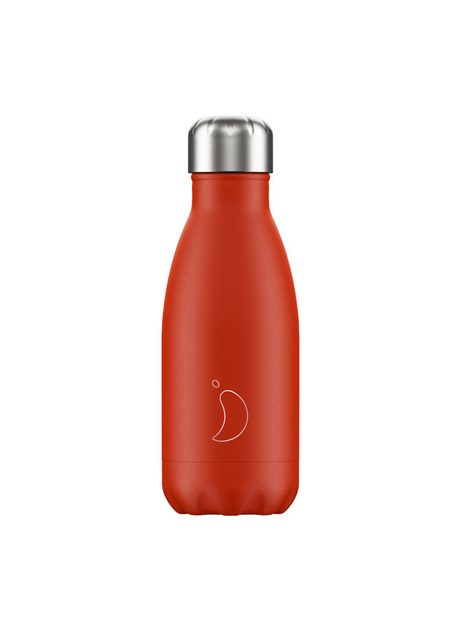 Chilly's Trinkflasche Pastell Edition Neon Red rot 260ml