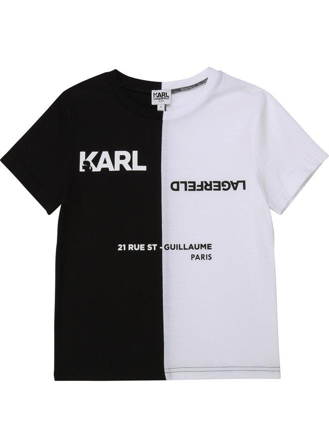 KARL LAGERFELD KIDS T-Shirt schwarz weiß Logo