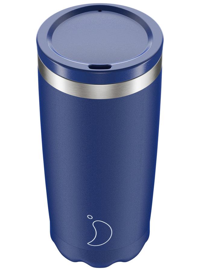 Chilly's Kaffeebecher wiederverwendbar 500ml Matte Edition Blue